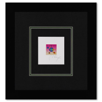 """Peter Max Signed """"Cosmic Runner with Planets"""" Limited Edition 16x17 Custom Framed Lithograph #489/500 at PristineAuction.com"""