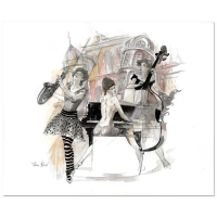 "Lena Sotskova Signed ""Paris-Blues"" 14x17 Mixed Media Original Painting at PristineAuction.com"