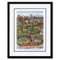 """Charles Fazzino Signed """"Take the B Train"""" 3D Limited Edition 21x27 Custom Framed Silk Screen #76/150 at PristineAuction.com"""