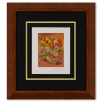 """Peter Max Signed """"Vase of Flowers XI"""" Limited Edition 21x23 Custom Framed Lithograph #495/500 at PristineAuction.com"""