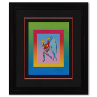 """Peter Max Signed """"Tip Toe Floating on Blends"""" Limited Edition 25x29 Custom Framed Lithograph #494/500 at PristineAuction.com"""