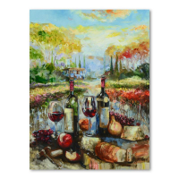 """Vadik Suljakov Signed """"Red, Red Wine"""" 30x40 Original Oil Painting on Canvas at PristineAuction.com"""