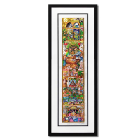"""Charles Fazzino Signed """"A Celebration of Spirit"""" 3D Limited Edition 16x44 Custom Framed Silk Screen, DX #204/375 at PristineAuction.com"""