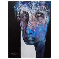 """Berberyan Signed """"Boxed In"""" 24x18 Original Painting on Canvas at PristineAuction.com"""