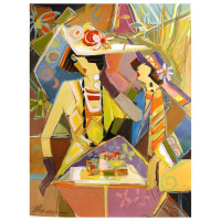 """Isaac Maimon Signed """"Enjoying The Moments """" 32x24 Original Acrylic Painting on Canvas at PristineAuction.com"""