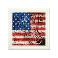 "Mr. Brainwash Signed ""Popeye (Flag)"" Limited Edition 44x44 Custom Framed Silk Screen PP #3/3 at PristineAuction.com"