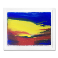 """Wyland Signed """"Abstracting 4"""" 30x37 Custom Framed Original Watercolor Painting at PristineAuction.com"""
