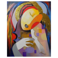 """Arbe Signed """"Muse"""" 30x24 Original Painting on Canvas at PristineAuction.com"""