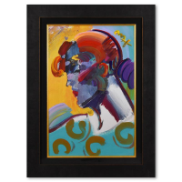 """Peter Max Signed """"Palm Beach Lady"""" 35x47 Custom Framed One-Of-A-Kind Acrylic Mixed Media at PristineAuction.com"""