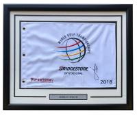 Jordan Spieth Signed 2018 US Open 21x27 Custom Framed Pin Flag Display (PSA LOA) at PristineAuction.com