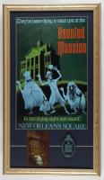 Haunted Mansion 15x26 Custom Framed Display with Vintage Postcard & Ceramic Emblem at PristineAuction.com