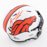 Drew Lock Signed Broncos Lunar Eclipse Alternate Speed Mini Helmet (Beckett Hologram) at PristineAuction.com