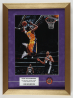 Kobe Bryant 14x19 Custom Framed Photo with Hall of Fame Induction Pin (See Description) at PristineAuction.com