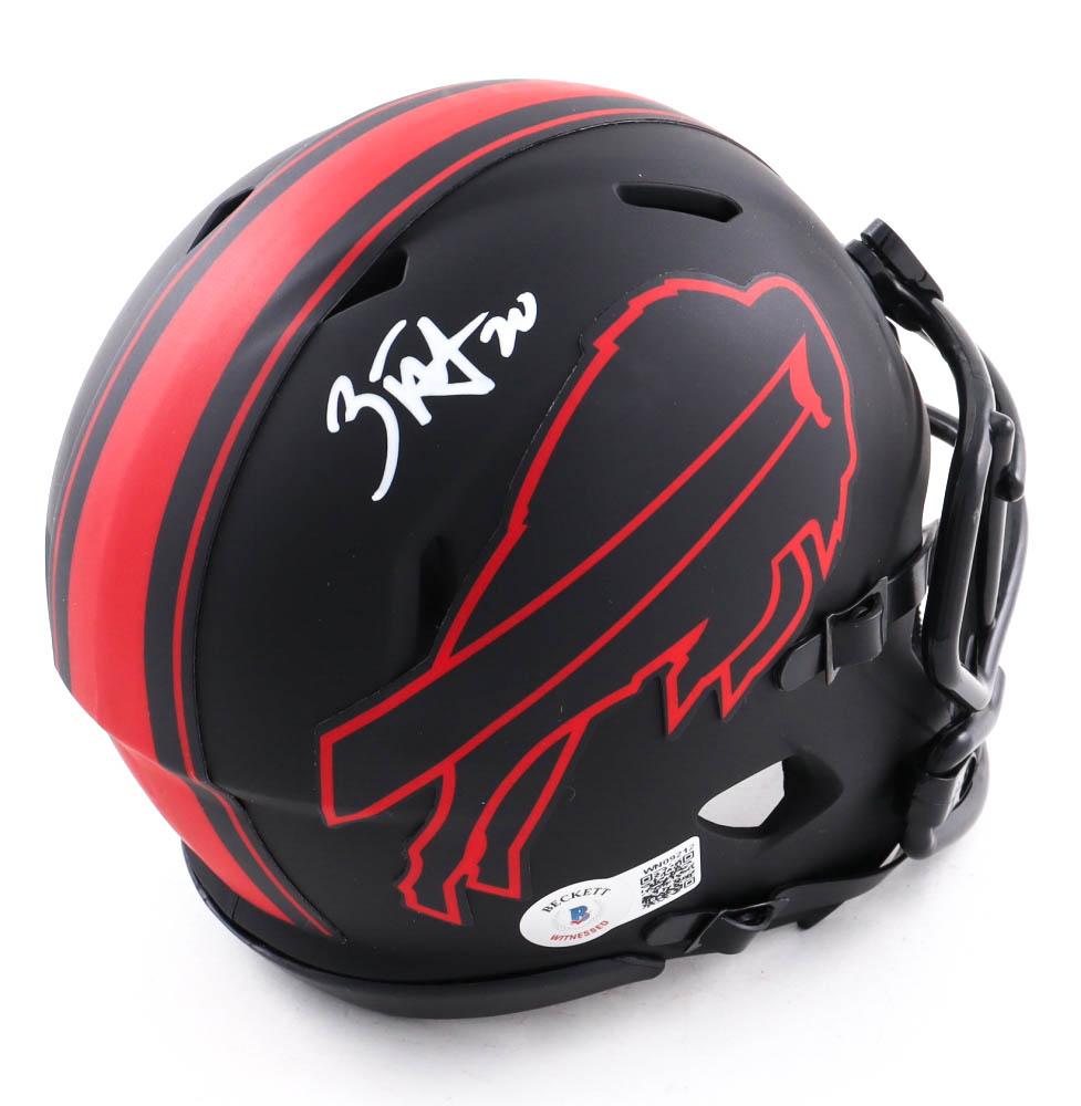 Zack Moss Signed Bills Eclipse Alternate Speed Mini Helmet (Beckett Hologram) at PristineAuction.com