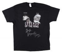 "Hulk Hogan & Ric Flair Signed Legends of The Ring Shirt Inscribed ""16x"" (JSA COA) at PristineAuction.com"
