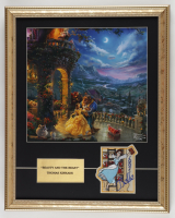 """Thomas Kinkade """"Beauty And The Beast"""" 16x20 Custom Framed Print Display with Belle Movie Patch at PristineAuction.com"""