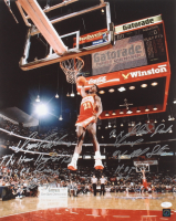 Dominique Wilkins Signed Hawks 16x20 Photo with Multiple Inscriptions (JSA COA & Authentic Signings COA) at PristineAuction.com