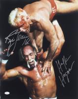 "Hulk Hogan & Ric Flair Signed 16x20 Photo Inscribed ""16x"" (JSA COA) at PristineAuction.com"