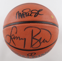 Larry Bird & Magic Johnson Signed NBA Never Flat Series Basketball (Beckett COA) at PristineAuction.com