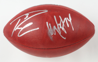 """Russell Wilson & Marshawn Lynch Signed """"The Duke"""" Official NFL Game Ball (Fanatics Hologram) (See Description) at PristineAuction.com"""
