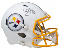 Troy Polamalu Signed Steelers Full-Size Matte White Speed Helmet (Beckett COA) at PristineAuction.com