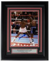 Sugar Ray Leonard Signed 11x14 Custom Framed Photo Display (Beckett COA) at PristineAuction.com