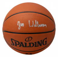 Zion Williamson Signed NBA Silver Series Basketball (Fanatics Hologram) at PristineAuction.com