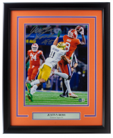 Justyn Ross Signed Clemson Tigers 16x20 Custom Framed Photo Display (Beckett COA) at PristineAuction.com