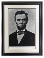 """Historical Photo Archive - Abraham Lincoln """"Gettysburg Portrait"""" Limited Edition 22x27 Custom Framed Giclee Display #/375 (PA LOA) at PristineAuction.com"""