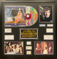 """Star Wars"" 34.5x34.5 Custom Framed Vinyl Record & Cut Display Signed by (12) with Harrison Ford, Carrie Fisher, Mark Hamill, David Prowse, Jeremy Bulloch, James Earl Jones (JSA LOA, JSA COA & Beckett COA) at PristineAuction.com"