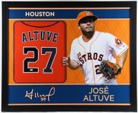 Jose Altuve Signed 35x43 Custom Framed Jersey (JSA Hologram) (See Description) at PristineAuction.com