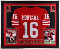 Joe Montana Signed 35.5x43.5 Custom Framed Jersey Display (JSA Hologram) (See Description) at PristineAuction.com