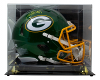 Davante Adams Signed Packers Full-Size Authentic On-Field Flash Alternate Speed Helmet With Display Case (Beckett COA) at PristineAuction.com