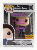 """Lisa Loring Signed """"The Adams Family"""" #816 Wednesday Adams Funko Pop! Vinyl Figure Inscribed """"Princess of Darkness"""" & """"Wednesday"""" (PSA COA) (See Description) at PristineAuction.com"""