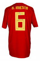 Andres Iniesta Signed Spain Jersey (Beckett COA & Fanatics Hologram) at PristineAuction.com