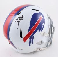 Zack Moss Signed Bills Full-Size Speed Helmet (Beckett Hologram) at PristineAuction.com