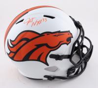 Javonte Williams Signed Broncos Full-Size Lunar Eclipse Alternate Speed Helmet (Beckett Hologram) at PristineAuction.com