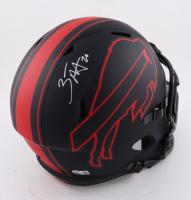 Zack Moss Signed Bills Full-Size Eclipse Alternate Speed Helmet (Beckett Hologram) at PristineAuction.com