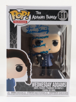 """Lisa Loring Signed """"The Adams Family"""" #811 Wednesday Adams Funko Pop! Vinyl Figure Inscribed """"Princess of Darkness"""" & """"Wednesday"""" (PSA COA) at PristineAuction.com"""