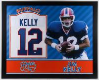 Jim Kelly Signed 35x43 Custom Framed Jersey (JSA Hologram) at PristineAuction.com