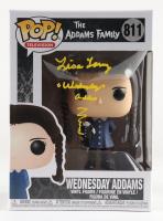 "Lisa Loring Signed ""The Adams Family"" #811 Wednesday Adams Funko Pop! Vinyl Figure Inscribed ""Wednesday Adams"" (PSA COA) at PristineAuction.com"
