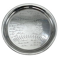 1953 Yankees World Series Silver Serving Tray at PristineAuction.com