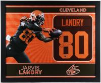 Jarvis Landry Signed 35x43 Custom Framed Jersey (Beckett COA) (See Description) at PristineAuction.com