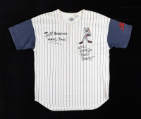 """Jeff Bergman & Eric Bauza Signed """"Bugs Bunny"""" Baseball Jersey Inscribed """"Oh Gee Bugs"""" & """"Bugs Bunny"""" (PSA Hologram) (See Description) at PristineAuction.com"""