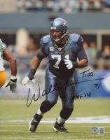"Walter Jones Signed Seahawks 8x10 Photo Inscribed ""T100"" & ""HOF '14"" (Beckett COA) at PristineAuction.com"