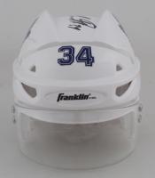 Auston Matthews Signed Maple Leafs Hockey Mini Helmet (Fanatics Hologram) at PristineAuction.com