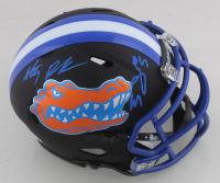 Emory Jones & Anthony Richardson Signed Florida Gators Matte Black Speed Mini Helmet (JSA COA) (See Description) at PristineAuction.com