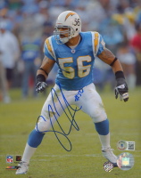 Shawne Merriman Signed Chargers 8x10 Photo (Beckett COA) at PristineAuction.com