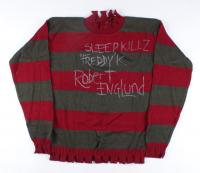 "Robert Englund Signed ""A Nightmare on Elm Street"" Freddy Krueger Costume Sweater Inscribed ""Sleep Killz"" & ""'Freddy' K"" (JSA COA) at PristineAuction.com"