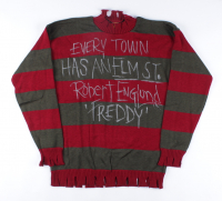 """Robert Englund Signed """"A Nightmare on Elm Street"""" Freddy Krueger Costume Sweater Inscribed """"Every Town Has An Elm St"""" & """"'Freddy'"""" (JSA COA) at PristineAuction.com"""